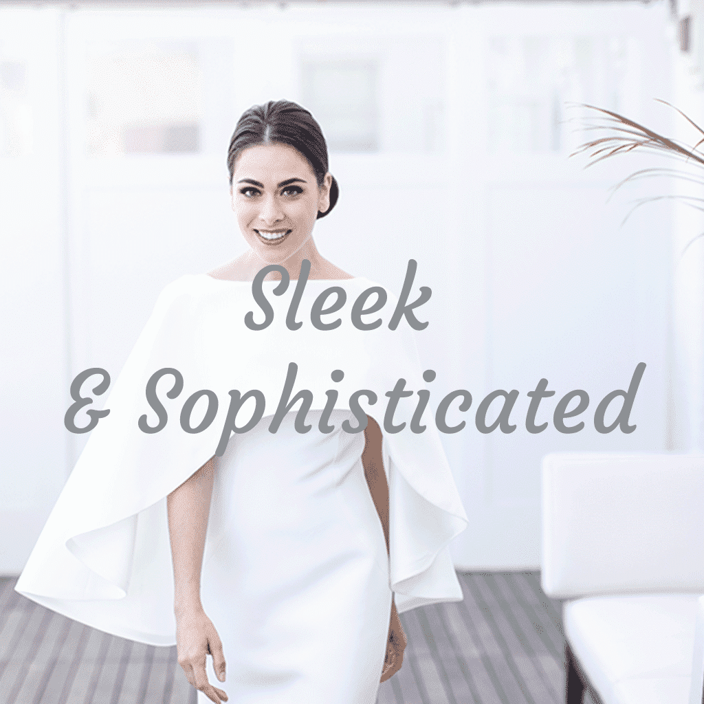 sleek and sophisticated bridal collections