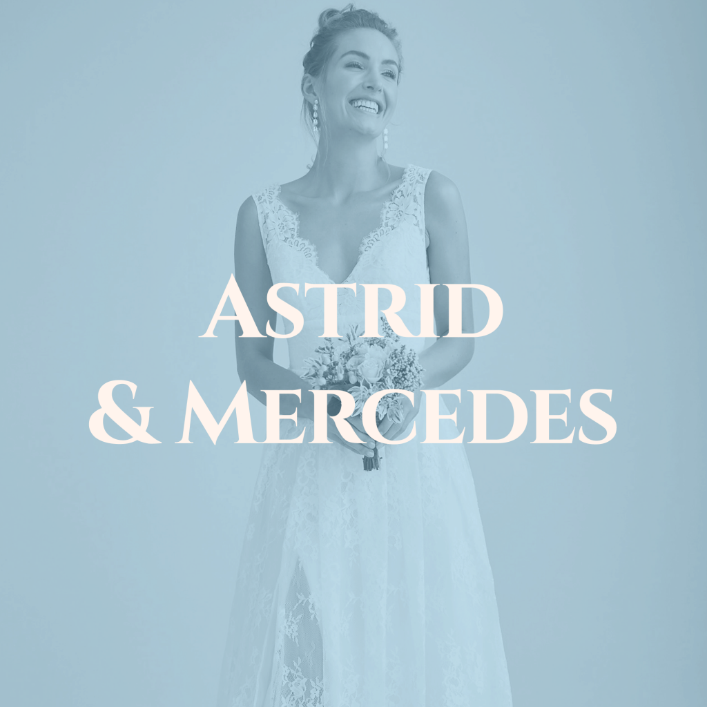 Astrid and Mercedes Classic wedding gowns saratoga